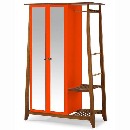 Armário Multiuso 2 Portas Stoka Maxima Nogal / laranja Novo