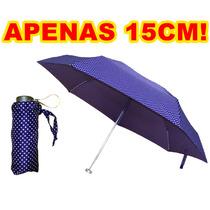 Mini Guarda-chuva Médio Feminino Manual Cod1038
