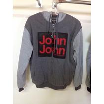 Jaqueta Moleton John John Com Capuz Blusa Nova Promoção