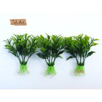 Folhagem Aquário Com Ventosa Planta Artificial Kit 3 Peças