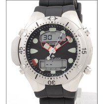 Relógio Citizen Aqualand Jp1060 Fundo Preto Bj2040