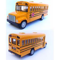 Onibus Escolar Carrinho Ferro Fricção Miniatura 1/32