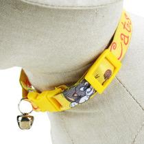 Coleira Em Fita Elástica Com Guizo - Amarela - D&g Pet