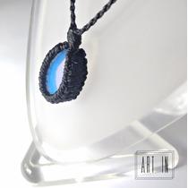 Colar Amuleto Hippie Pedra Da Lua/opala Feminino - Masculino