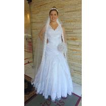 Vestido Exclusivo De Noiva E/ou Debutante, Bordado Á Mão!!
