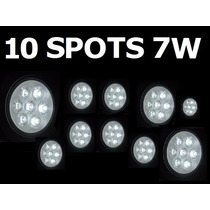 10 Spot Led 7 Watts Branco Frio Bi-volt Dicroica Direcional