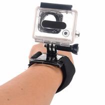 Kit Gopro Caixa Protetora Prova D Água+pulseira Rotação 360º