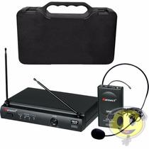 Microfone Sem Fio Karsect Kru301 Headset Profissional Cabeça