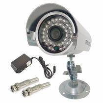 Câmera Ir Ccd Segurança Infravermelho + Brinde Bnc E Placa