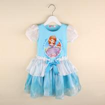 Vestido Infantil Princesa Sofia Azul/rosa Pronta Entrega