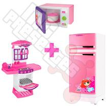 Kit Cozinha Magica Eletronica+geladeira Magica+microondastoy
