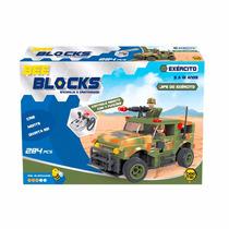 Blocos De Montar Jipe Exécito Remoto 284 Peças Bee Blocks