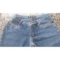 Calça Feminina Jeans Marca Contacto Tam 38 Pedras Borboleta