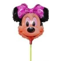 Balão Metalizado Minnie Rosa Enfeite De Mesa Tam:32cm Kit/60