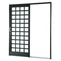 Porta De Correr Sasazaki Silenfort Em Aço Quadriculada 1