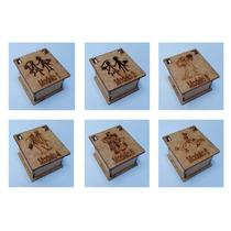 Caixa Noivos Noivinhos Mdf 6x6 - 70 Peças