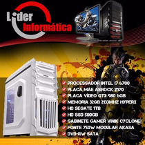 Pc Gamer Intel I7 6700, 32gb Ddr4, Ssd 500gb, Gtx 980 6gb