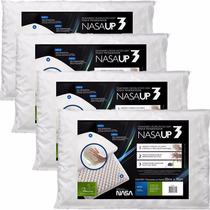 4 Travesseiro Viscoelástico Fibrasca Toque Macio - Nasa Up3