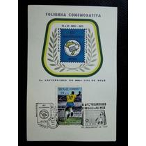 Brasil Folhinha Comemorativa 1000 Gol Pelé Com W Cbc