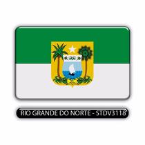 Adesivo Automotivo Bandeira Rio Grande Do Norte Resinado