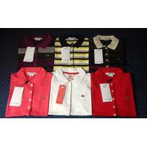 Camisas Polo Feminina Marca Famosa Lisas,listras Vários Tms