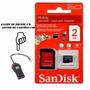 Cartão Sd 2gb Sandisk Classe 10 + Leitor De Cartão Usb