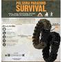 Bracelete/pulseira-paracord+apito+pederneira - Sobrevivência