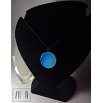 Colar Amuleto Com Pedra Da Lua/opala Rainbow Moonstone