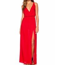 Vestido Longo Vermelho/vestido Casual/festa/casamento