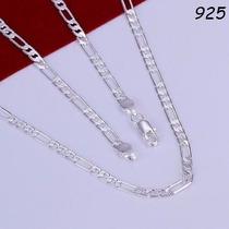 Corrente Cordão Masculino 55cm 4mm Em Prata 950 Sterlina Top