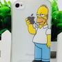Capa Iphone 4 4s Simpsons | Homer Maçã Capinha Case