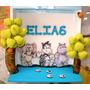 Porta Maternidade Bichos Azul Com Nome Elias