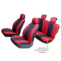 Capas Protetora De Bancos Automotivos Vermelho C/ Preto