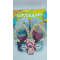 Chinelos Havaianas Frozen Infantil Decorados Custumizados