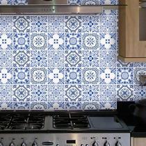 Adesivo Parede Pia Cozinha Ladrilho Azulejo Português Kit