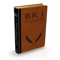 Bíblia De Estudo King James Letra Gde. Preto/marrom