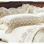 Lençol C´ Doró Queen Fio Egipicio 400 Fios Palha Com 4 Pçs