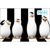 Super Painel De Festa Os Pinguins De Madagascar 150x230 Cm