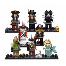 Kit Piratas Do Caribe Jack Sparrow - Compatível Ao Lego