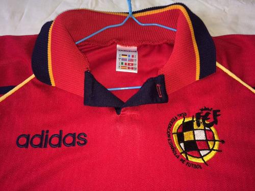 00654a6bb1ccf Camisa Espanha 1996 Original adidas Raro Escudo Excelente