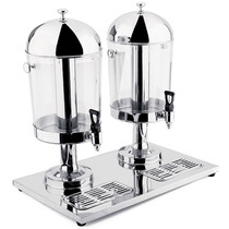 Dispenser Suco Plaza Duplo Aço Inox 8l Hercules Dsu-10d