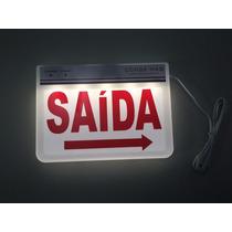 Placa De Saída Led Emergência Autônoma 100/220v