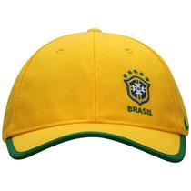 Boné Nike Cbf Core Cap | Cor: Amarelo / Verde 447923-703