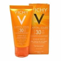Capital Soleil Toque Seco Fps30 Vichy 50g Protetor Solar