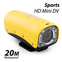Filmadora Câmera Hd 720p Mini Dv Prova Dagua 20m Bike Nova!