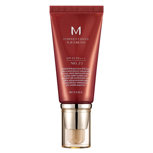 M Perfect Cover Bb Cream 50ml Missha - 23 Natural Beige