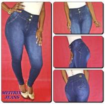 Calça Jeans Legging Meitrix E Rackso- C.média Levanta Bumbum