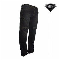 Calça Jeans Motociclista/ Motoqueiro Com Proteção Hlx-