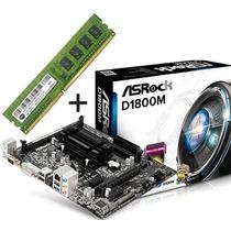 Kit Asrock D1800m Celeron Dual Core 2.58ghz + 2gb Memória