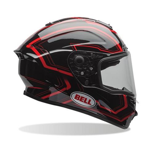 Capacete Bell Star Pré - venda Preto / vermelho 63 / 64 Rs1